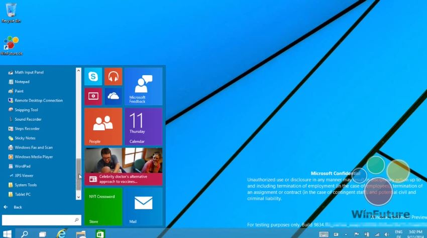 Windows 9 Start Menu is Back