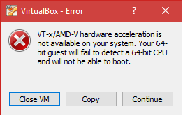 VirtualBox - Error