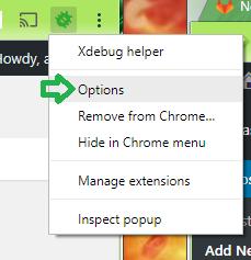 XDebug Extension Options
