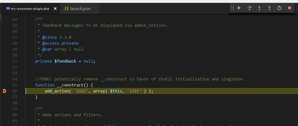 VS Code Caught Breakpoint